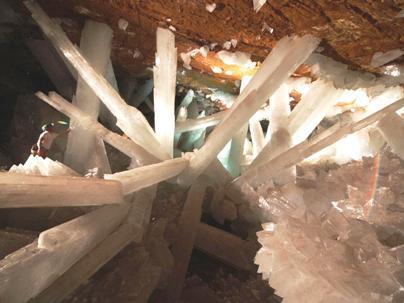 Naica Mine Selenite Crystals 1