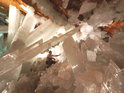 Naica Mine Selenite Crystals 2