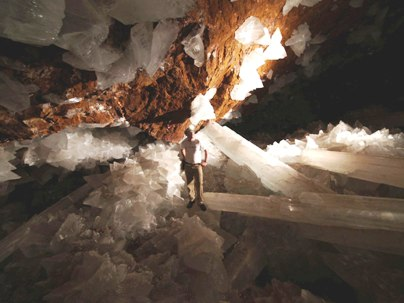Naica Mine Selenite Crystals 4
