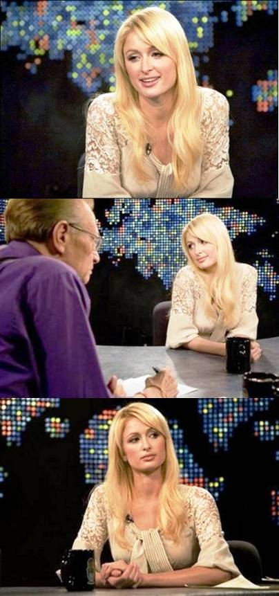 paris hilton larry king 2