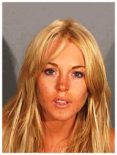 lindsay lohan mug shot july 2007