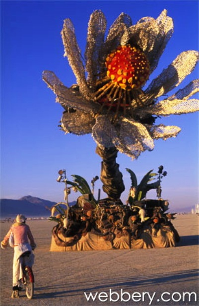 burning man flower