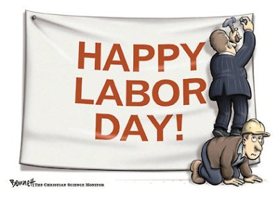 happy labor day cartoon