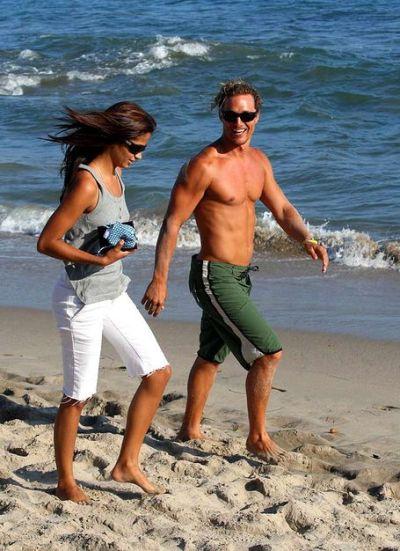 Matthew McConaughey shirtless in board shorts