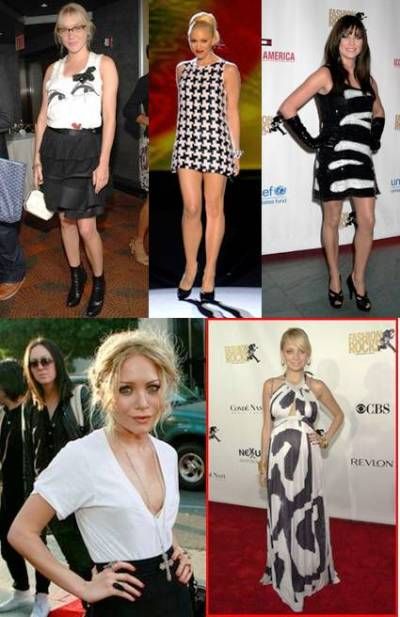 black and white fashion flops