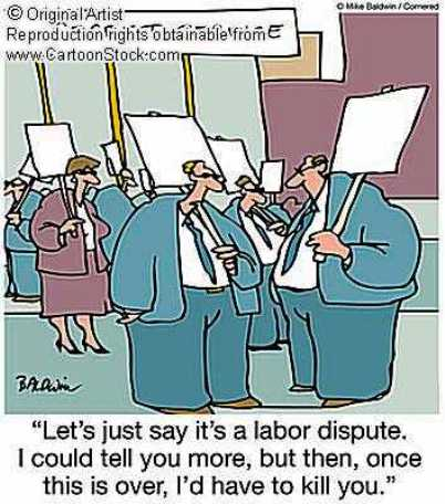 picket line cartoon