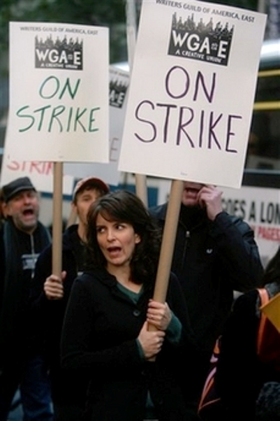 tina fey hollywood writers strike