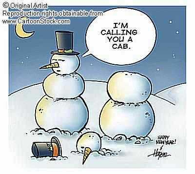 drunk snowman cartoon