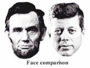 lincoln kennedy face comparison