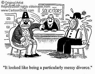 clown divorce cartoon