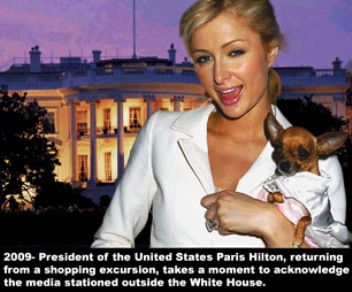 if paris hilton was president