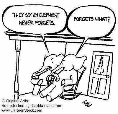 elephants never forget cartoon