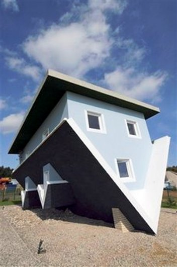 upside down house germany
