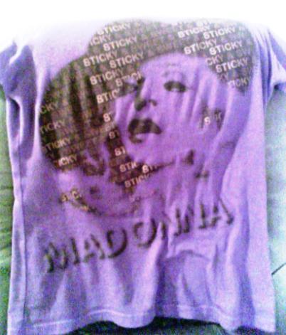madonna concert shirt
