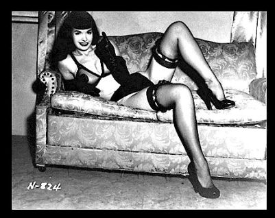 bettie page heart attack