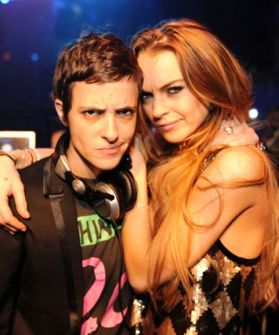 lindsay lohan sam ronson new years