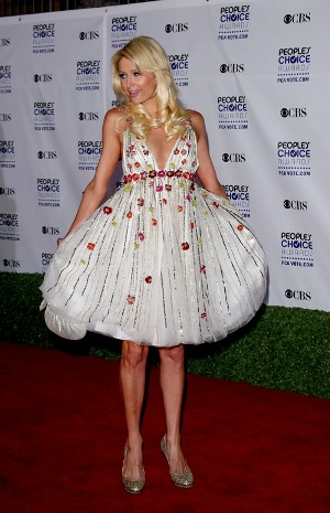 paris hilton 2009 people's choice awards