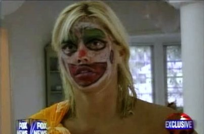 anna nicole smith on drugs clown video