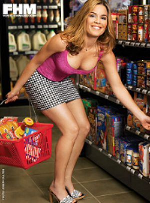 cat cora fhm photo shoot