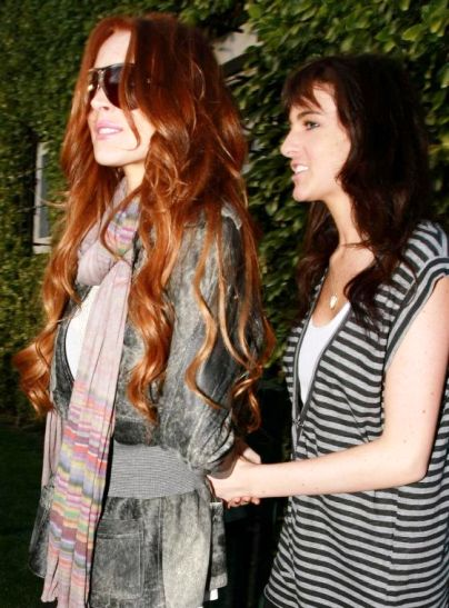 lindsay lohan with sister allie