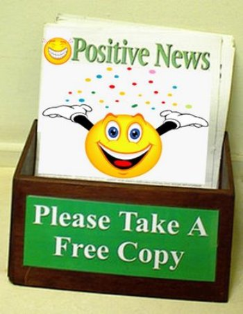 positive news brochure box
