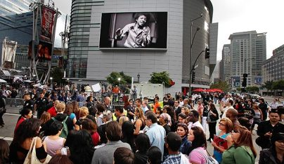michael jackson memorial staples center crowd