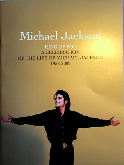 michael jackson memorial booklet
