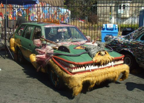 berkeley art car fuzzy monster