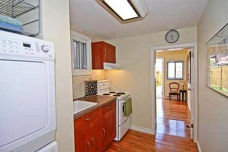 smallest house in brooklyn new york kitchen and laundry