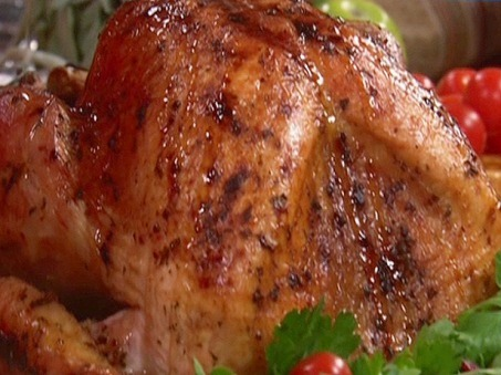 Paula Deen's Roasted Turkey with Maple Cranberry Glaze FoodNetwork.com