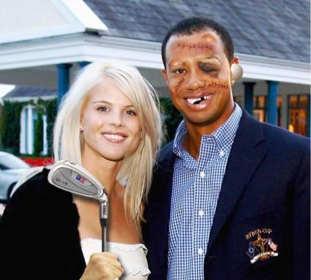 Tiger Woods Christmas Picture