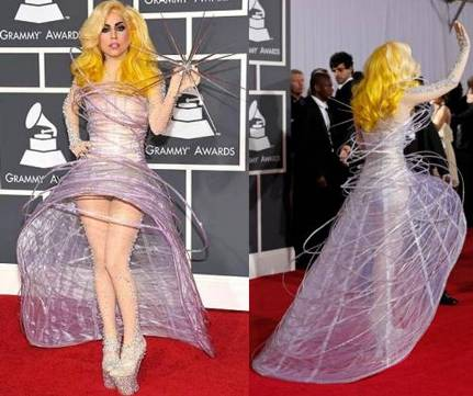 Lady GaGa on the red carpet: