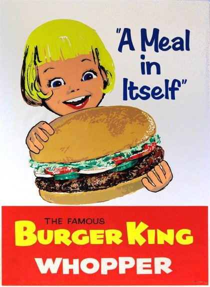vintage burger king whopper ad