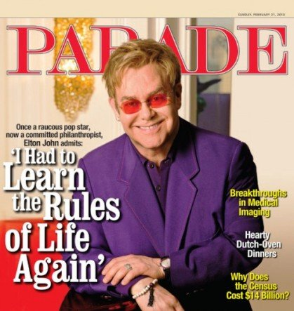elton john parade magazine jesus was gay