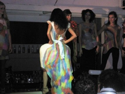 jenne giles fashion show supperclub san francisco dress back