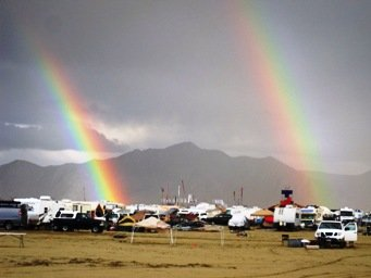 burning man festival 2010 double rainbow