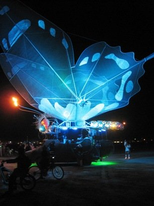 burning man festival 2010 butterfly car