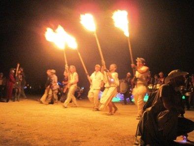 burning man fire parade