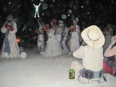 the burning man white parade