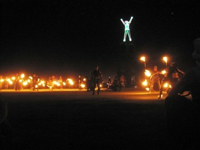 fire dancers burning man 2010