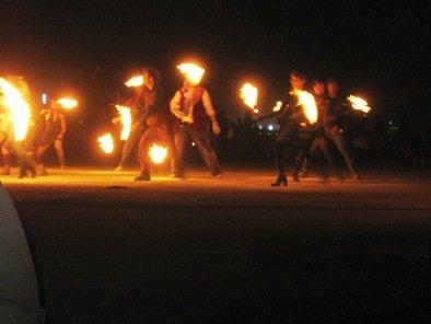 burning man festival 2010 fire dancers