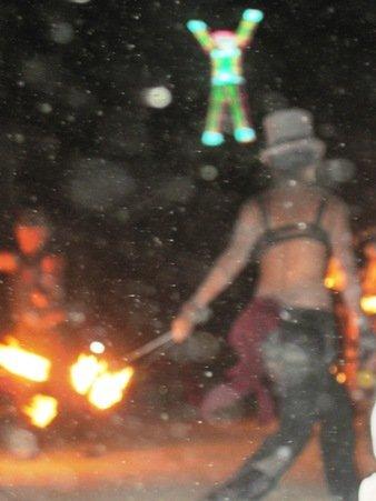 fire dancing the burning man