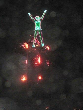 the burning man fireworks
