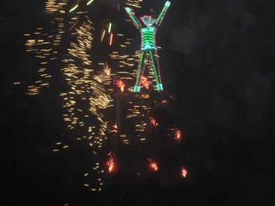 fireworks the burning man 2010