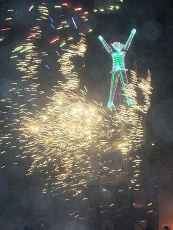 burning man festival fireworks 2010