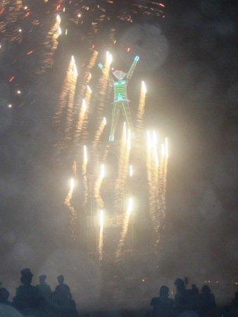 falling fireworks burning man 2010