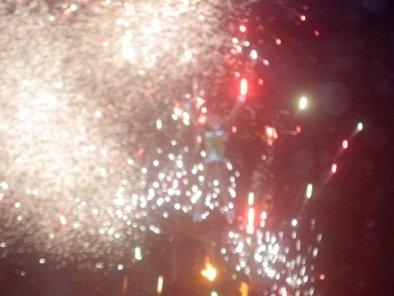 silver burst fireworks burning man 2010