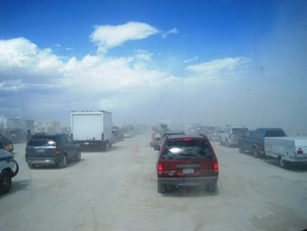 entering burning man 2010