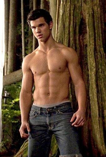 taylor lautner shirtless new moon