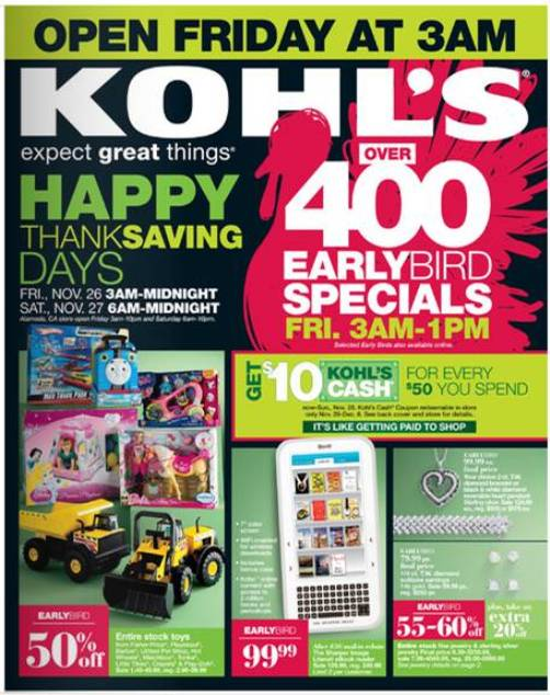 kohls black friday sale 2010